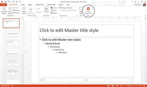 how to change template how to use and edit powerpoint master slides