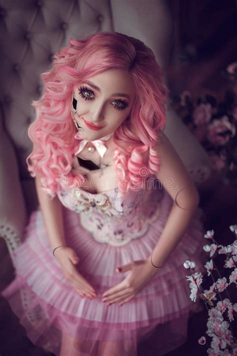 porcelain doll hair porcelain doll stock image image of