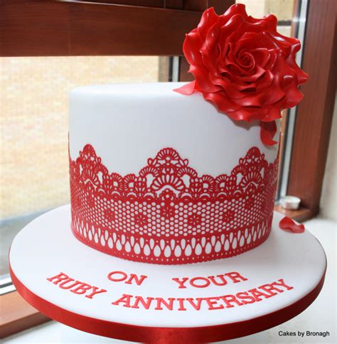 wedding anniversary ideas dublin ruby wedding anniversary cake cake by cakes by bronagh