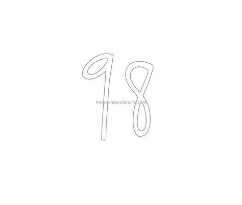 printable elegant numbers free elegant 98 number stencil freenumberstencils com