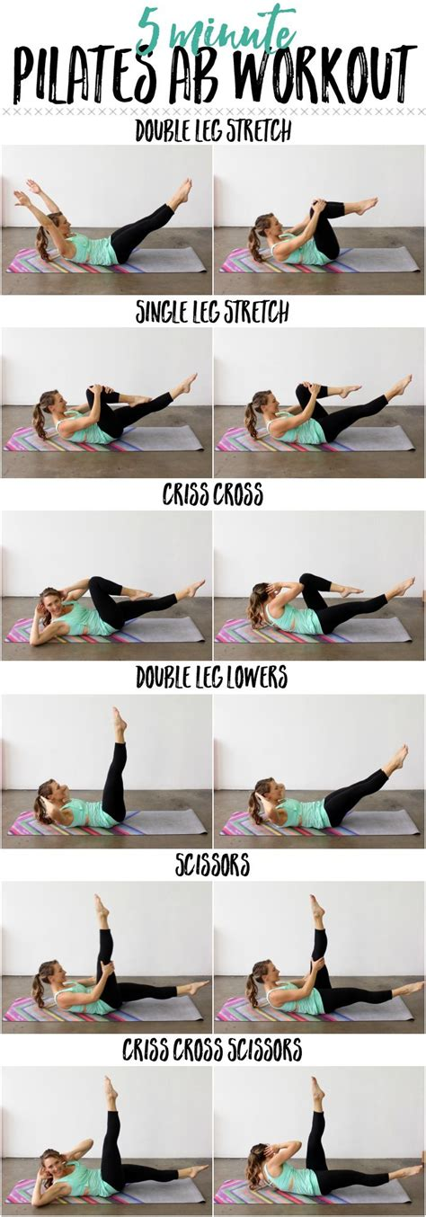 5 minute pilates ab workout how to do the pilates ab series