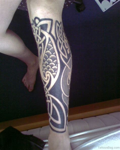 tattoo design at leg 52 cool celtic tattoos design on leg
