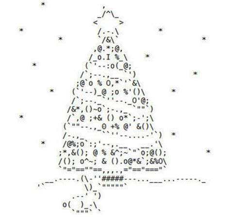 merry christmas 2008 edition ascii art