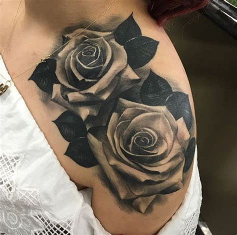 roses tattoo on shoulder shoulder designs ideas and meaning tattoos
