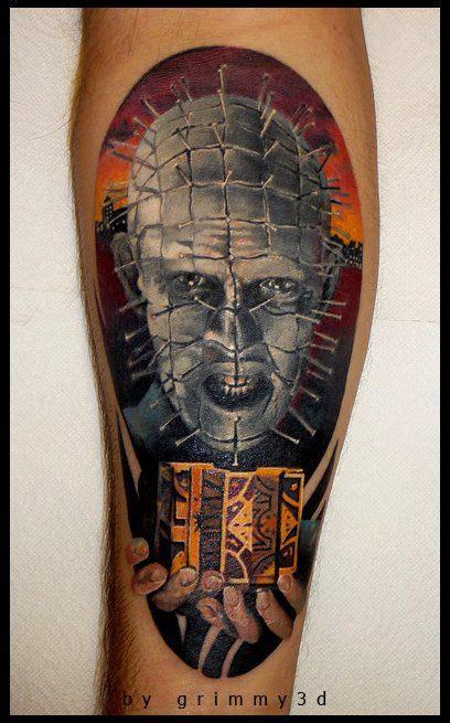 pinhead tattoo pin hellraiser andrey barkov grimmy http