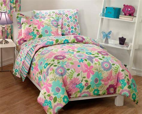 butterfly twin comforter set new girls daisy flower butterfly pink aqua bedding