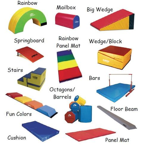 gymnastic equipment names s room