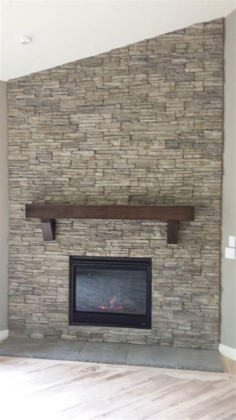 Nantucket Stacked Fireplace by Heatilator Novus With Eldorado Badgerland