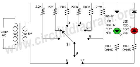 transistor tester circuit transistor tester schematic light laser led led circuits transistor tester schematic l8300