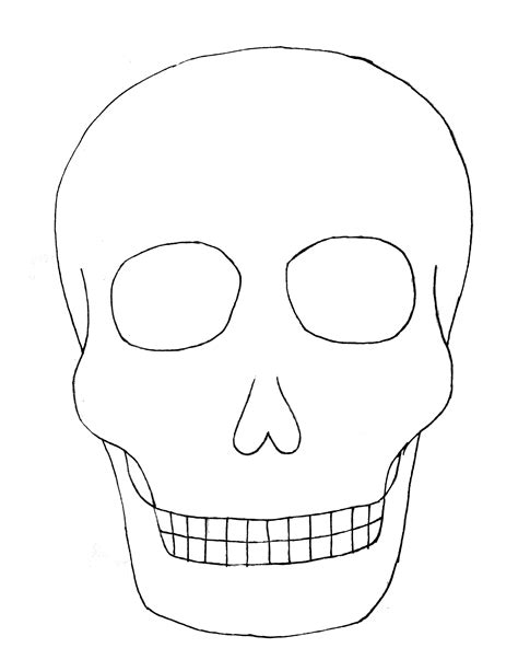 Paper Crafts For Children 187 Kids Art Skull Cut Out Template
