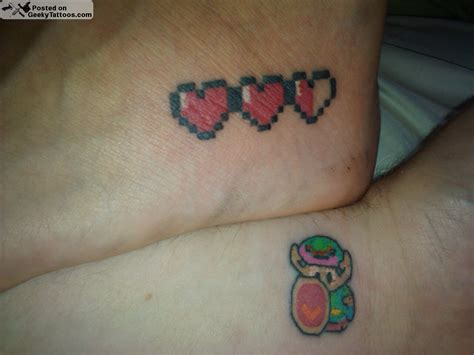 link and hearts tattoos geeky tattoos