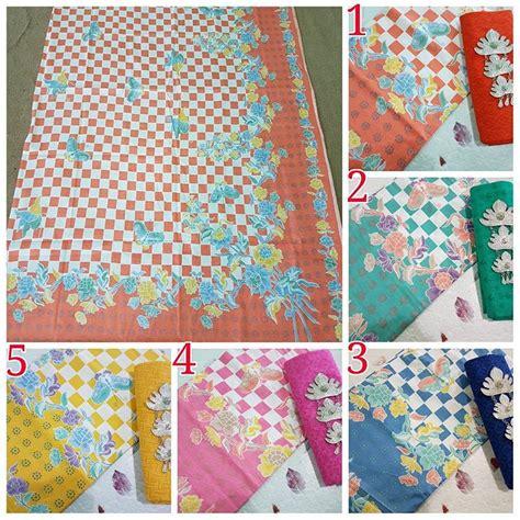 Set Dengan Print Motif kain batik pekalongan batik print soft pastel motif