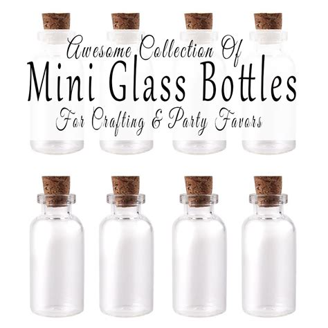 Where To Buy Mini Glass Bottles For Crafting And Party Favors   Glitter 'N Spice