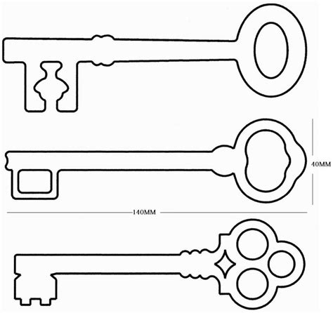 Printable House Key Template | key template for kids clipart best