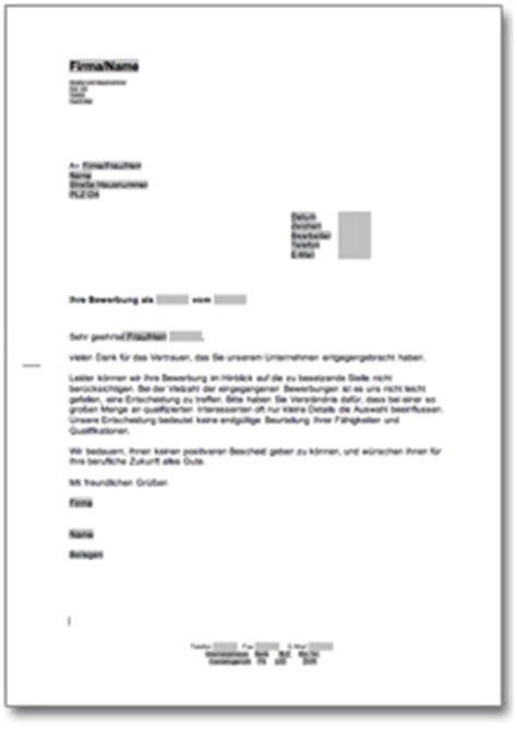 Musterbrief Einladung Absagen Absage Einer Bewerbung Um Eine Lehrstelle De Musterbrief