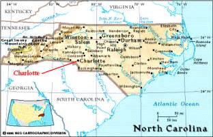 North Carolina United States Map by North Carolina Map