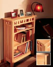 arts and crafts bookcase plans arts and craft style bookcase woodworking projects and