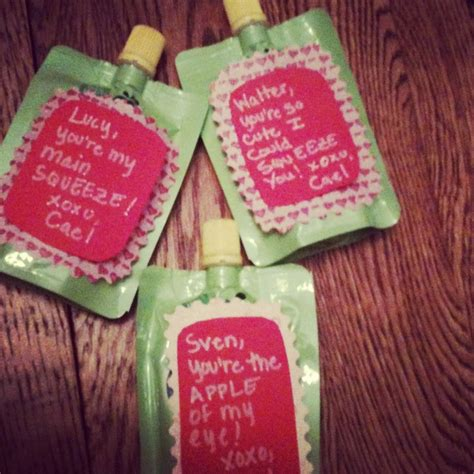 valentines gifts for babies infant valentines on applesauce pouches crafts