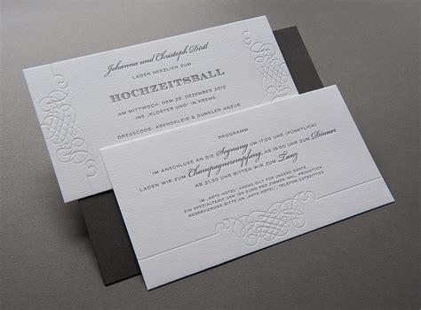 Hochzeitseinladung Letterpress by Letterpress Einladungskarten Vorlagen