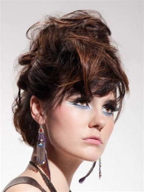 prom hairstyles for brunette hair brunette edgy updo prom wedding party formal evening