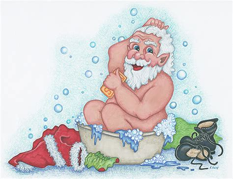 santa in the bathtub santa
