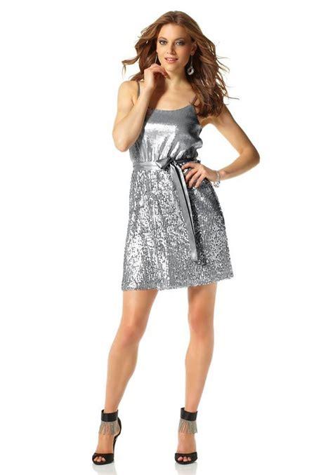 paillettenkleid silber abendmode outlet mode shop