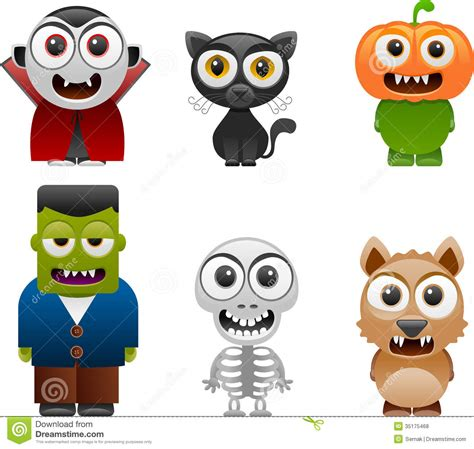 printable pictures of halloween characters halloween characters set 2 royalty free stock photos