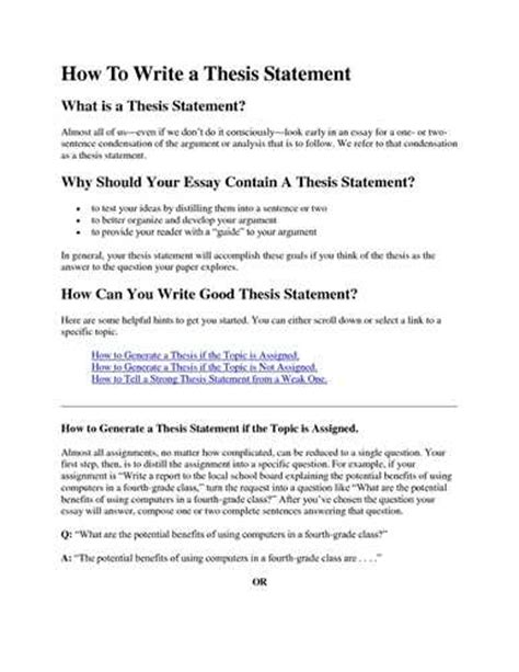 How Do I Write A Thesis Statement For An Essay by How Do I Write A Thesis Statement Vanderbilt