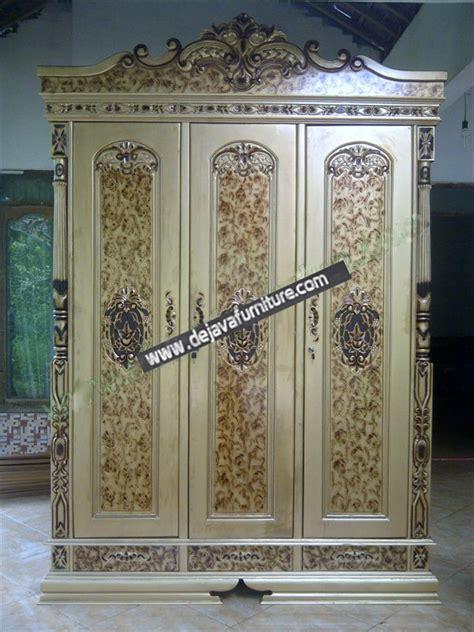 Lemari Jati 2 Pintu Ukir Mawar Peluru lemari pakaian rahwana finishing emas jual mebel jepara