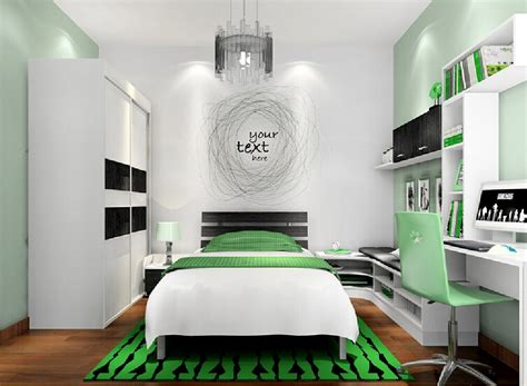 white green bedroom black and white and green bedroom