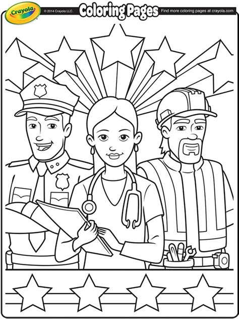 Labor Day Coloring Pages labor day workers coloring page crayola