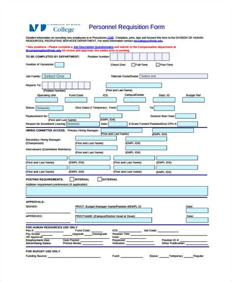 requisition form template 8 free pdf documents download