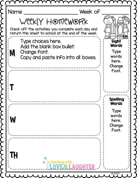 210 Best Images About Homework Ideas On Homework Folders Grade Spelling And