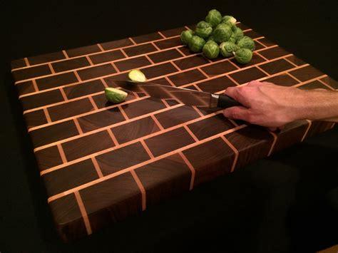 signature woodworks made signature black brick design end grain cutting