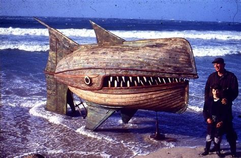giants boat picture giant wooden fish formed with two recycled boats my