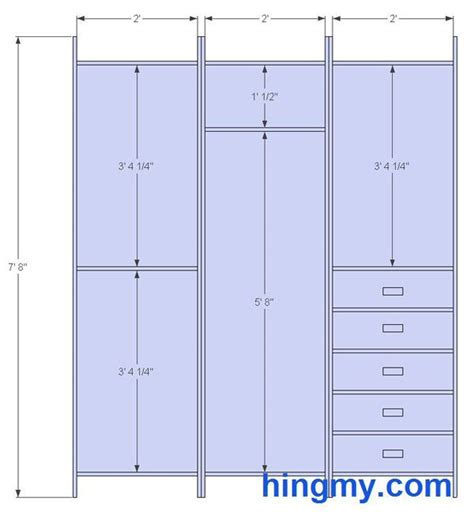 Wardrobe Closet Dimensions by Standard Closet Measurements This Design Is Meant Be As