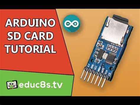 tutorial arduino deutsch arduino tutorial sd card module micro sd tutorial diy