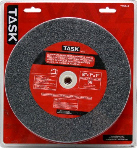 5 inch bench grinding wheel task tools t35844 8 inch by 1 inch aluminum oxide bench