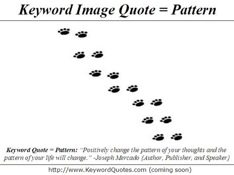 thought pattern quotes keywords