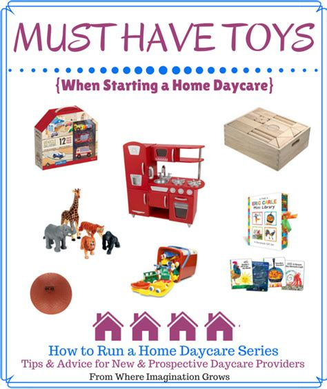 running 100 ideas that work in a small church books must toys when starting a home daycare where