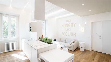 minimalist apartment   white interior  rome