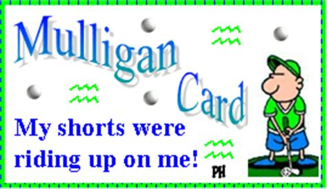 mulligan card template mulligan golf make golf