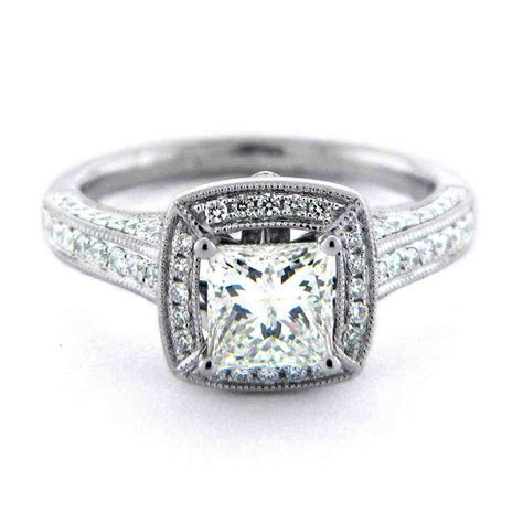 Wedding Rings Square by Square Engagement Rings For Wedding And Bridal