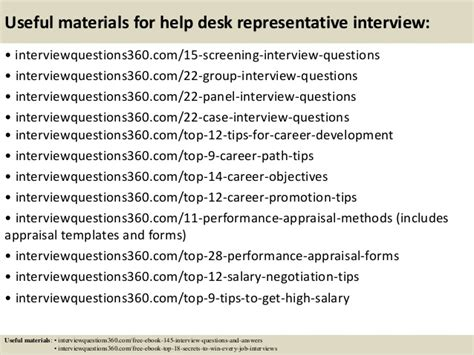 top 10 help desk representative questions and answers