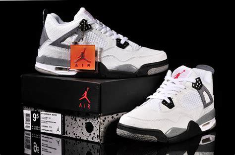 white pattern jordans cheap air jordan 4 fish pattern white black grey shoes on sale