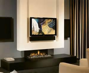 minimalist fireplace design with tv set minimalist