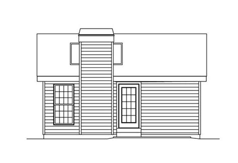 Country Cottage House Plans Rear Elevation Of Cabin Colonial Cottage Country Ranch