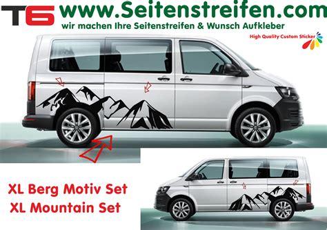 dekor aufkleber f rs auto vw t4 t5 t6 berg berge mountain xl seitenstreifen auto