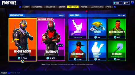 fortnite rogue new skins leaked in fortnite battle royale burnout