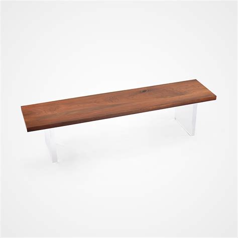 acrylic benches solid walnut acrylic bench rotsen furniture